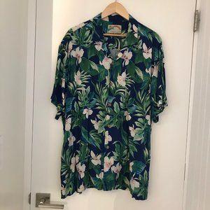 Paradise Found XL Vintage Rayon Hawaiian Shirt
